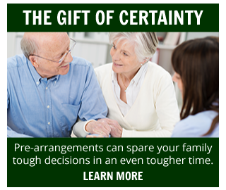 Pre-arrangements The Gift Of Certainty